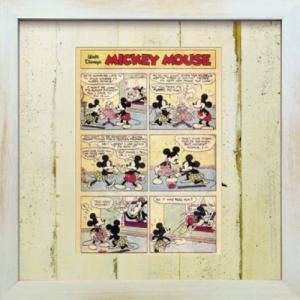 Disneyフレーム ゆうパケット ビンテージ ディズニー シリーズ Mickey Mouse 7 ミッキーマウス7/絵画 壁掛け 壁飾り インテリア|ayuwara