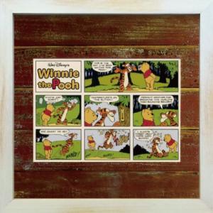 Disneyフレーム ゆうパケット ビンテージ ディズニー シリーズ Winnie the Pooh ウィニー・ザ・プー1/絵画 壁掛け 壁飾り インテリア|ayuwara
