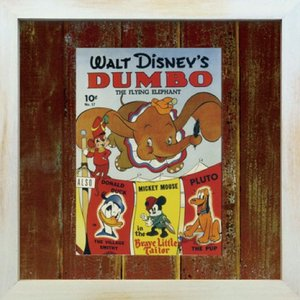 Disneyフレーム ゆうパケット ビンテージ ディズニー シリーズ Dumbo ダンボ/絵画 壁掛け 壁飾り インテリア|ayuwara