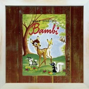 Disneyフレーム ゆうパケット ビンテージ ディズニー シリーズ Bambi 1 バンビ1/絵画 壁掛け 壁飾り インテリア|ayuwara