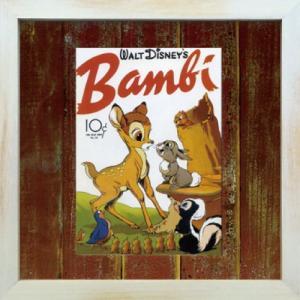 Disneyフレーム ゆうパケット ビンテージ ディズニー シリーズ Bambi 2 バンビ2/絵画 壁掛け 壁飾り インテリア|ayuwara