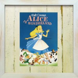 Disneyフレーム ゆうパケット ビンテージ ディズニー シリーズ ふしぎの国のアリス/絵画 壁掛け 壁飾り インテリア|ayuwara