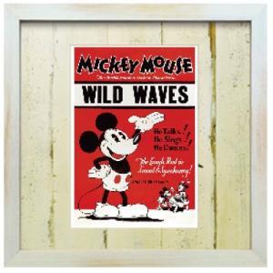アートフレーム ビンテージ ディズニー ミッキーマウス【ゆうパケット】/絵画 壁掛け 壁飾り インテリア ayuwara