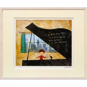 絵画 壁掛け/グランドピアノ(はりたつお)/絵画 壁掛け 壁飾り インテリア 油絵 花 アートパネル ポスター 絵 額入り リビング 玄関|ayuwara