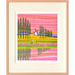 絵画 壁掛け はりたつお 風車2/絵画 壁掛け 壁飾り インテリア 油絵 花 アートパネル ポスター 絵 額入り リビング 玄関|ayuwara