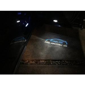 トヨタ 社外品 プリウス 50 40 30系 エンブレム ドア カーテシ ユニット レーザー 3D LED 高照度 左右セット Impossible|azbex-tec