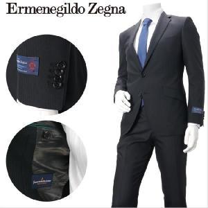 エルメネジルド・ゼニア生地使用 2つボタンスーツ シャドーストライプ 1508021-A 黒柄 メンズ azdeux