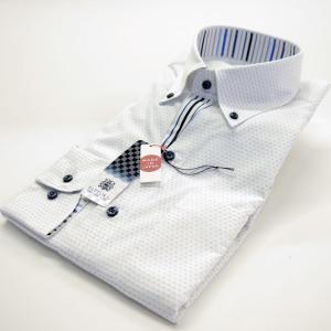 FATTURA  ワイシャツ メンズ 長袖 日本製 ドレスシャツ ブルー系|azdeux