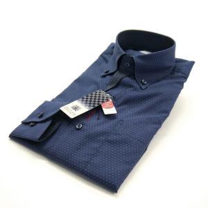 FATTURA  ワイシャツ メンズ 長袖 日本製 ドレスシャツ ネイビー|azdeux