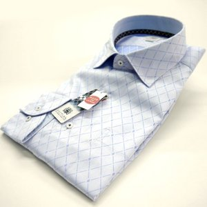FATTURA  ワイシャツ メンズ 長袖 日本製 ドレスシャツ ブルー|azdeux