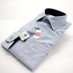 FATTURA  ワイシャツ メンズ 長袖 日本製 ドレスシャツ サックス|azdeux