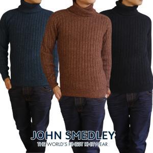 JOHN SMEDLEY ジョンスメドレー degree メンズ タートルネック セーター リブニッ...