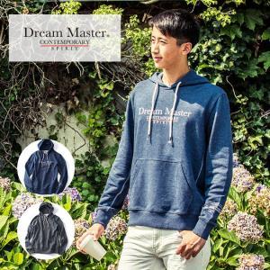 DREAM MASTER(ドリームマスター) パーカー ロゴプリント メンズ グレー ネイビー azdeux