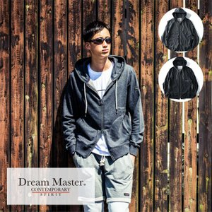 DREAM MASTER(ドリームマスター) ジップパーカー メンズ グレー チャコール azdeux