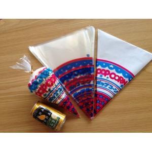ポップコーン専用 三角袋 (青) 100枚|azechi|03