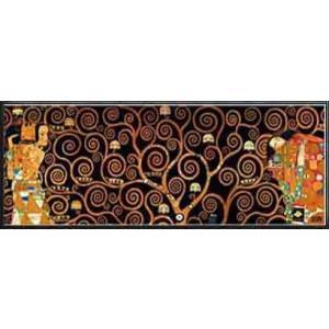 ストクレ邸フリーズのための下絵[期待-生命の樹-抱擁 [Dark](グスタフ クリムト) 額装品 アルミ製ハイグレードフレーム|aziz
