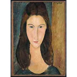 ジャンヌ・エビュテルヌの肖像(アメデオ モディリアーニ) 額装品 アルミ製ハイグレードフレーム|aziz