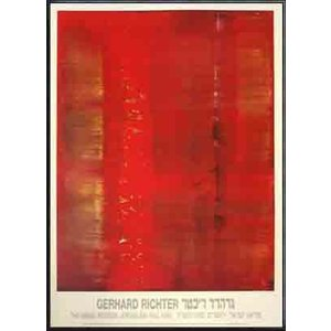 Abstract painting(ゲルハルト リヒター) 額装品 アルミ製ハイグレードフレーム|aziz