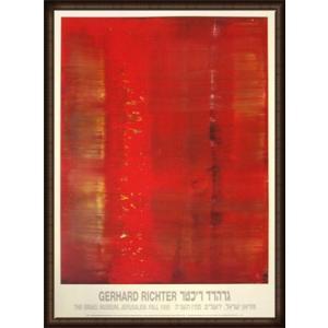 Abstract painting(ゲルハルト リヒター) 額装品 ウッドハイグレードフレーム|aziz