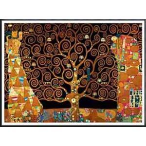 ストクレ邸フリーズのための下絵[期待-生命の樹-抱擁-Interpretation](グスタフ クリムト) 額装品 アルミ製ハイグレードフレーム|aziz