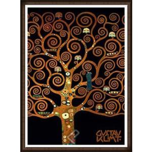 ストクレ邸フリーズのための下絵[生命の樹-In the Tree of Life](グスタフ クリムト) 額装品 ウッドハイグレードフレーム|aziz