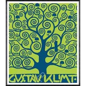 ストクレ邸フリーズのための下絵[生命の樹-ブルー](グスタフ クリムト) 額装品 アルミ製ハイグレードフレーム|aziz
