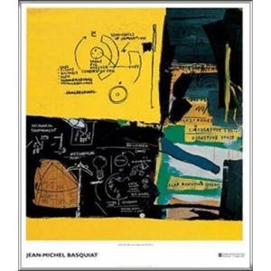 Untitled 1984(ジャン ミシェル バスキア) 額装品 アルミ製ハイグレードフレーム aziz