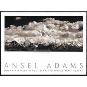 Mt. McKinley Range (エンボスマーク入)(アンセル アダムス) 額装品 アルミ製ハイグレードフレーム|aziz