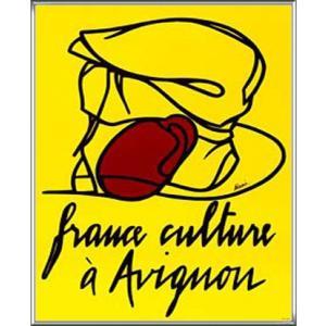 France Culture Avignon(ヴァレリオ・アダミ) 額装品 アルミ製ハイグレードフレーム aziz