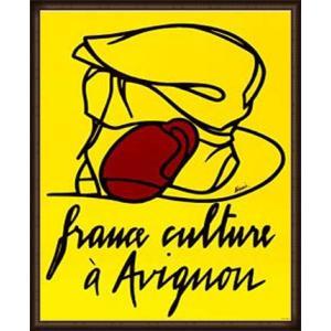 France Culture Avignon(ヴァレリオ・アダミ) 額装品 ウッドハイグレードフレーム aziz