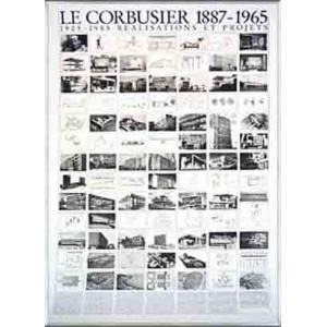 ポスター アート Realisations Et Projets(ル コルビジェ) 額装品 アルミ製ベーシックフレーム