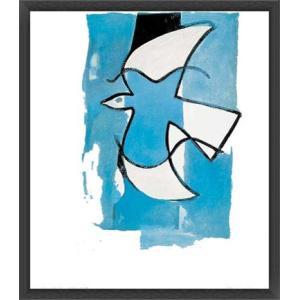 Le Oiseaux Bleu et Gris(ジョルジュ ブラック) 額装品 ウッドベーシックフレーム|aziz