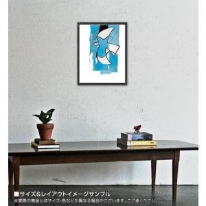 Le Oiseaux Bleu et Gris(ジョルジュ ブラック) 額装品 ウッドベーシックフレーム|aziz|02
