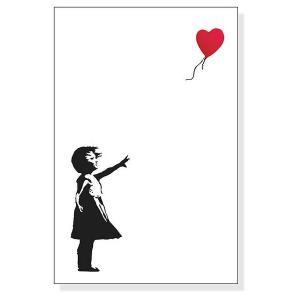 ポスター アート 額装済/30%OFF/バンクシー/Balloon Girl 赤い風船と少女/シルバー|aziz|02