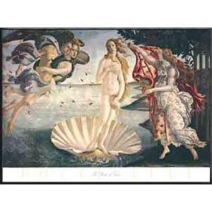 ヴィーナスの誕生(サンドロ ボッティチェリ) 額装品 アルミ製ハイグレードフレーム aziz