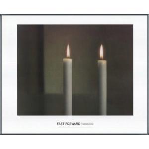 Two Candles(ゲルハルト リヒター) 額装品 アルミ製ベーシックフレーム|aziz