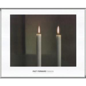 Two Candles(ゲルハルト リヒター) 額装品 アルミ製ハイグレードフレーム|aziz
