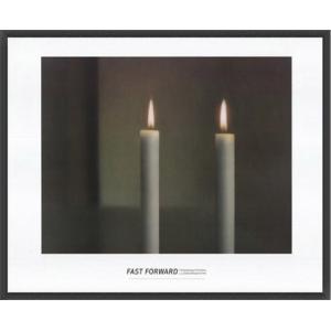 Two Candles(ゲルハルト リヒター) 額装品 ウッドベーシックフレーム|aziz