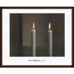 Two Candles(ゲルハルト リヒター) 額装品 ウッドハイグレードフレーム|aziz