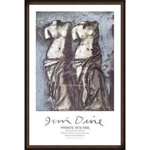 夜空の中のふたつのヴィーナス(ジム ダイン) 額装品 ウッドハイグレードフレーム|aziz