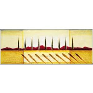イタリアの糸杉(ラズロ エメリッヒ) 額装品 アルミ製ハイグレードフレーム aziz