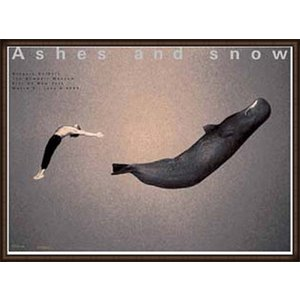 Ashes and snow ニューヨーク 2005年 Gregory Colbert with Whale(グレゴリー コルベール) 額装品 ウッドハイグレードフレーム|aziz