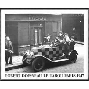 ポスター アート The Checkered Car(ロベール ドアノー) 額装品 アルミ製ハイグレ...
