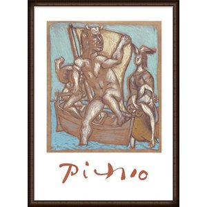 Femme et Minotaure 限定2000枚(パブロ ピカソ) 額装品 ウッドハイグレードフレーム|aziz