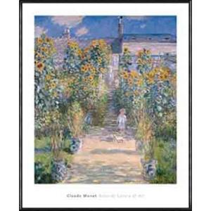 ヴェトゥイユの画家の庭園 1880(クロード モネ) 額装品 アルミ製ハイグレードフレーム|aziz