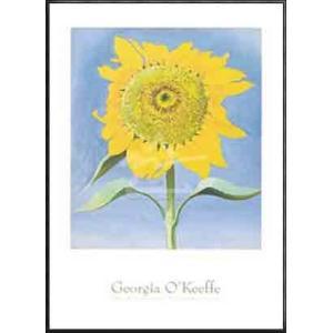 Sunflower New Mexico 1935(ジョージア オキーフ) 額装品 アルミ製ハイグレードフレーム|aziz