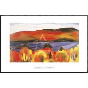 Lake George Autumn 1927(ジョージア オキーフ) 額装品 アルミ製ハイグレードフレーム|aziz