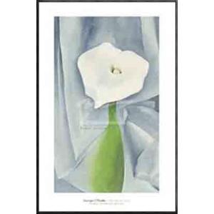 Calla Lily on Grey 1928(ジョージア オキーフ) 額装品 アルミ製ハイグレードフレーム|aziz