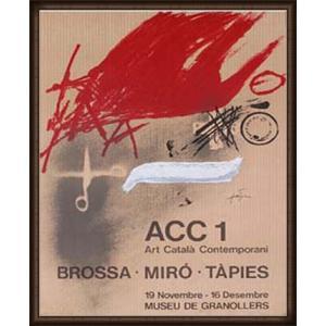 ACC1 - Brossa、 Miro、 Tapies 1977年(アントニ タピエス) 額装品 ウッドハイグレードフレーム|aziz