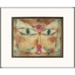 猫と鳥 2004(パウル クレー) 額装品 アルミ製ハイグレードフレーム aziz